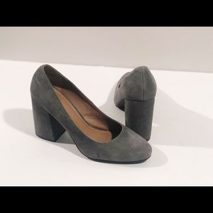 14th. & Union Nordstrom Grey Suede Heels 8W